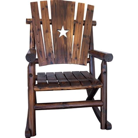 char log patio rocking chairs  star