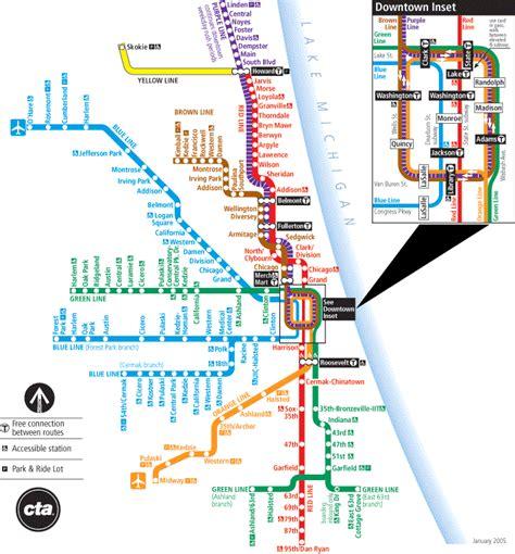 chicago rail map chicago map