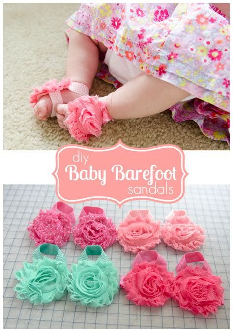 diy baby barefoot sandals 36 best diy gifts to make for baby