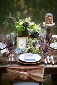 wedding themes and decor picture of dreamy woodland wedding table decor ideas 28