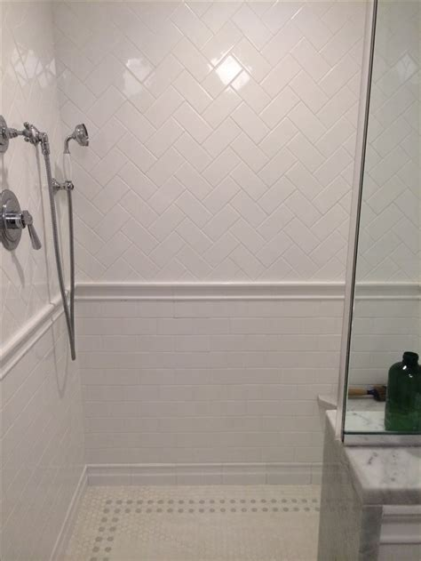 herringbone subway tile and floor for the home pinterest