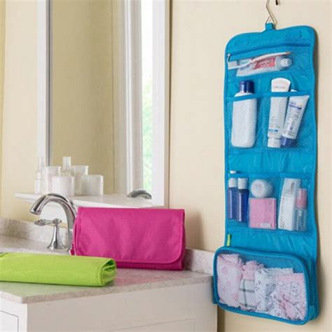 Bathroom Toiletry Storage New Arrival Portable Foldable Travel Cosmetic Hanging Toiletry Bags Bathroom
