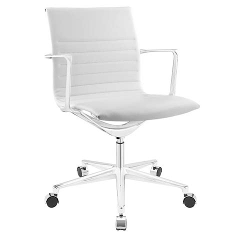 Modern White Desk Chair Vanguard Modern White Office Chair Eurway