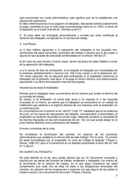 plazos y terminacion de contrato terminacion del contrato de trabajo