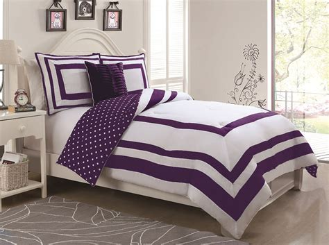 purple polka dot comforter 3 piece hotel juvenile reversible polka dot comforter set