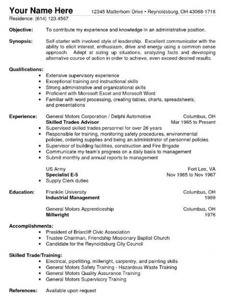 resume template for warehouse worker resume template