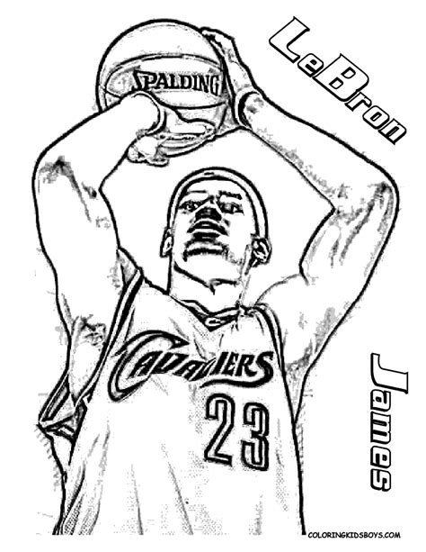 nba coloring pages lebron james nba printable coloring pages