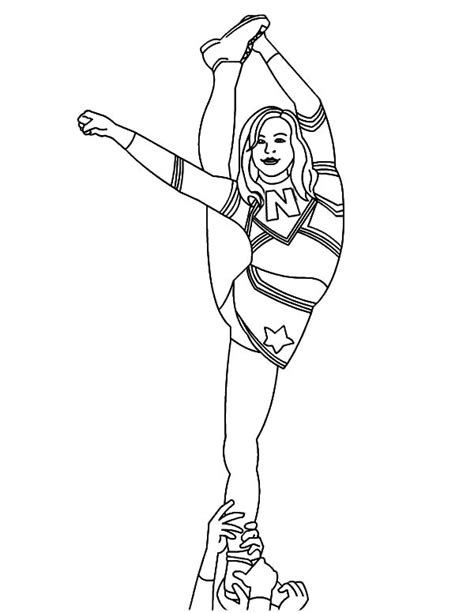 competitive cheerleading coloring pages