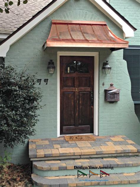 copper awning over door front door awning pilotproject org