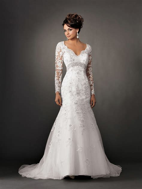 Wedding Dresses With Sleeves the elegance of fall lace wedding dresses with sleeves