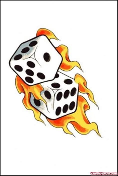 flaming dice tattoo designs flaming dice viewer