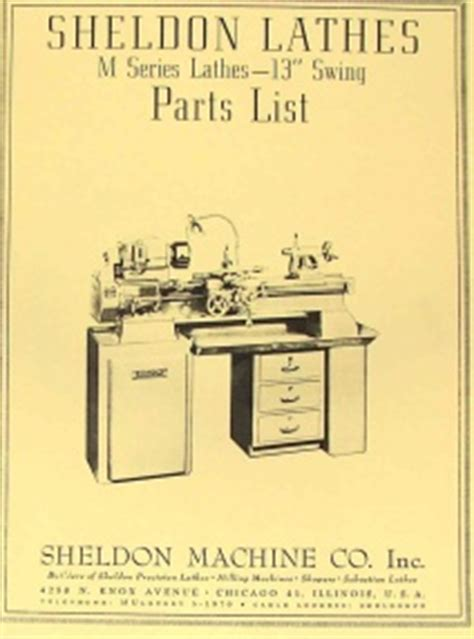 tools and machines classic reprint books sheldon 10 quot metal lathe operator s parts list manual