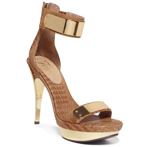 fergie sandals fergie two sandals in beige taupe lyst