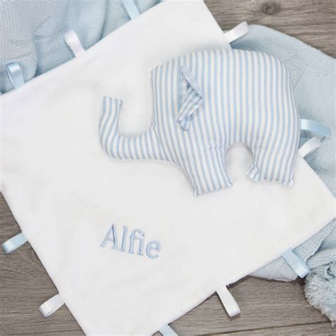 elephant comforter toy personalised elephant toy and taggi comforter set by my