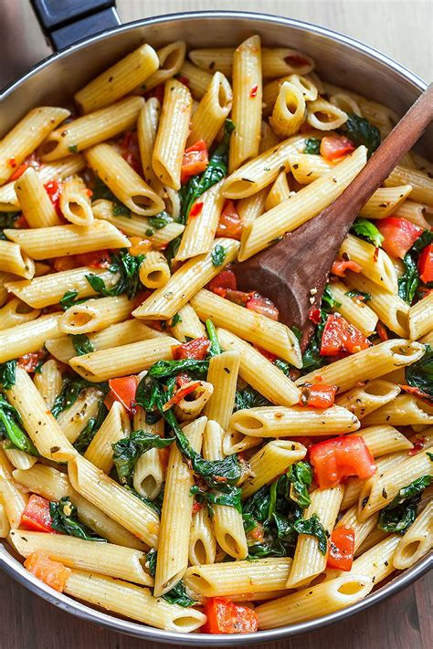 pasta recepies shrimp pasta recipe with tomato and spinach eatwell101