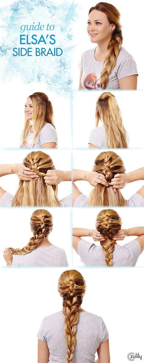 frozen elsa hair tutorial disney s braid hairstyles for wedding frozen hair tutorial guide to elsa s side braid frozen