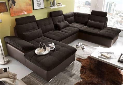 wohnlandschaft mit 2 ottomanen jakarta wohnlandschaft mit schlaffunktion sofa