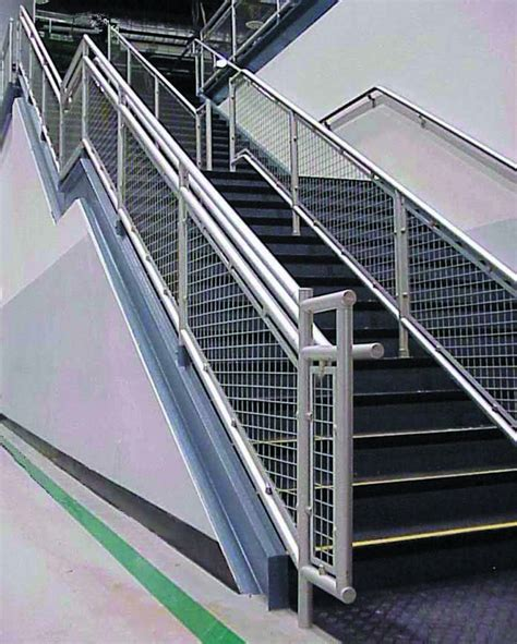 banister rail aluminum hand rail safety railing for equipment and personell