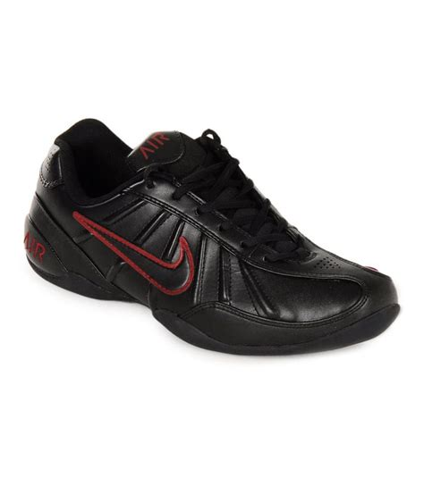 leather sport shoes nike black synthetic leather sport shoes price in india