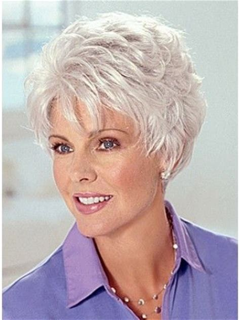 hairstyles for 54 year old best old lady grey hair wig pinteres