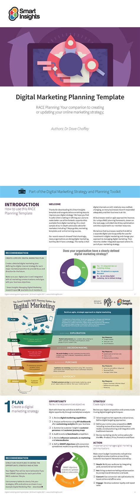 Free Digital Marketing Plan Template Smart Insights Digital Marketing Plan Template Free
