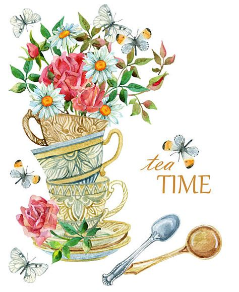 Afternoon Tea Clip Art, Vector Images & Illustrations   iStock