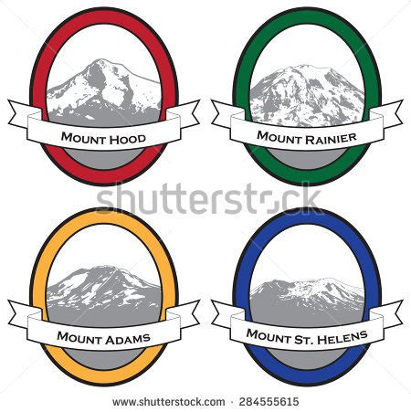 pacific northwest design stock vector illustration of vector illustrations famous mountains pacific northwest
