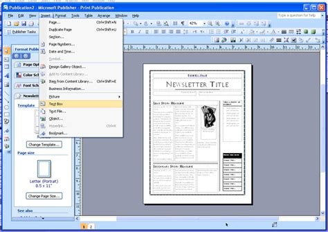 microsoft publisher newspaper template free best photos of newspaper template publisher microsoft