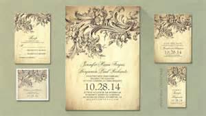 read more old vintage inspired wedding invitation
