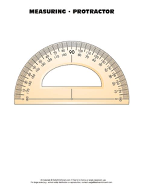 protractor printable version math tools e is for enrichment