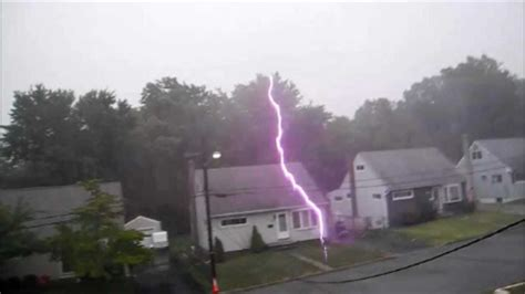 lightning hits house lightning strike by the house by matthoff4designs youtube
