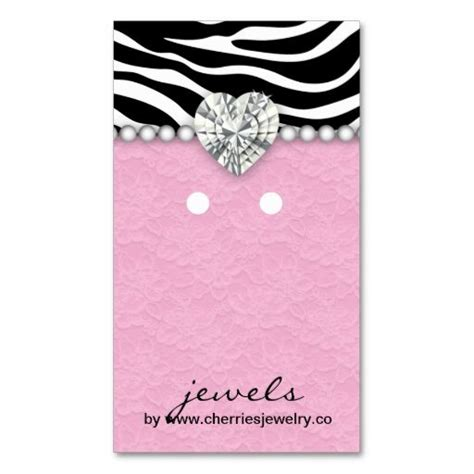 earring display card template earring display cards zebra lace jewelry business