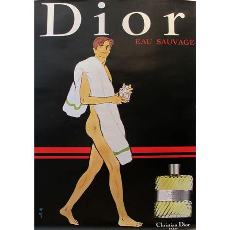 vintage christian dior eau sauvage perfume ad chairish