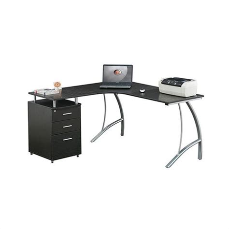 Techni Mobili L Shaped Desk Techni Mobili L Shape Corner Desk W File Cabinet Computer Desk Ebay
