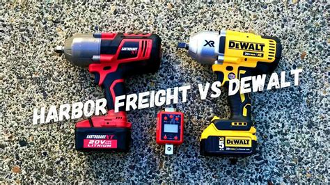 earthquake xt 3 8 harbor freight earthquake xt vs dewalt 20v max xr youtube