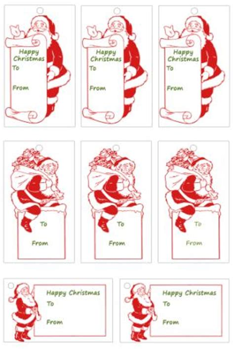 printable gift tags from father christmas advent calendar 2013 day 1 gift tags christmas tree farm