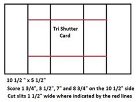 tri fold birthday card template tri fold shutter card template pinteres
