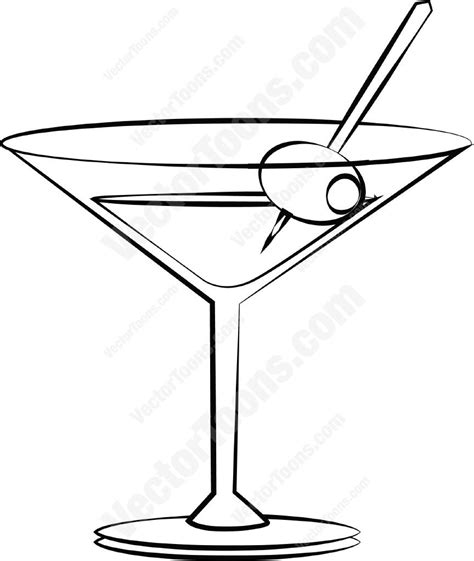 martini olive vector martini with an olive cartoon clipart vector toons