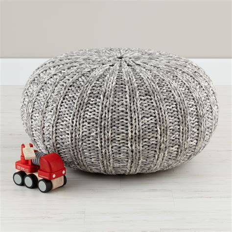 kids seating grey variegated pouf seater  land  nod