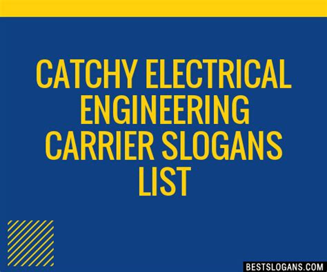 catchy electrical engineering carrier slogans list taglines phrases names
