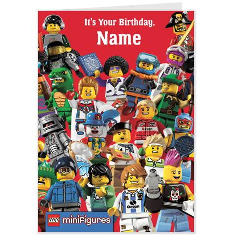 Lego Birthday Cards Lego Birthday Card Coloring Pages
