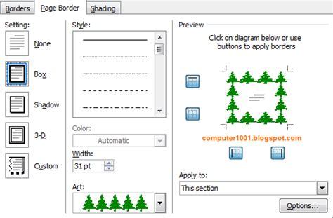 membuat border html cara membuat page border yang berbeda dalam dokumen yang