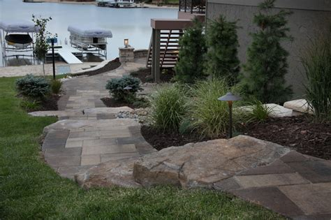 lakefront property traditional landscape omaha by clear creek landscapes