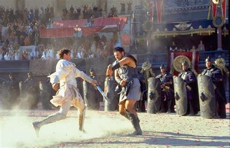 gladiator film fight scene mary ann bernal did you know the armor used in gladiator