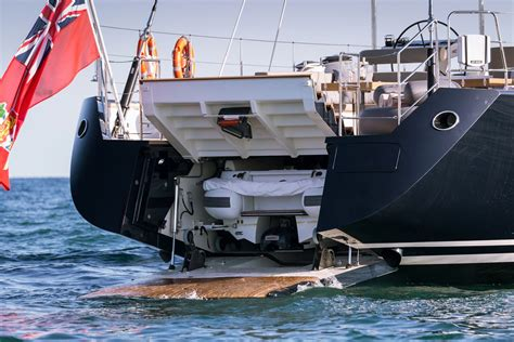 vip boat swim platform sea eagle yacht royal huisman 43 sailing yacht