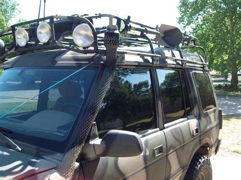 land rover snorkel snorkel and roof light guard install land rover forums