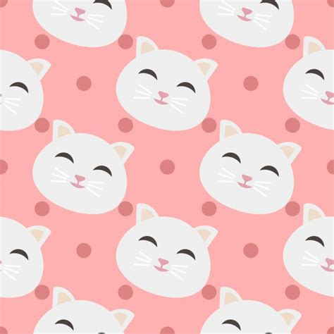 cat vector wallpaper cats pattern background vector free download