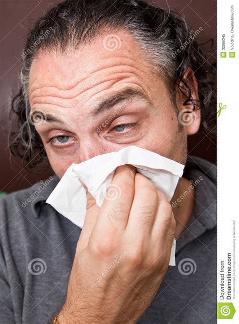 with runny nose with a runny nose royalty free stock photo image 32066345