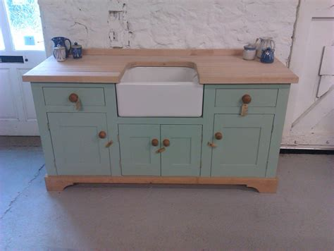 freestandin belfast sink unit kitchen