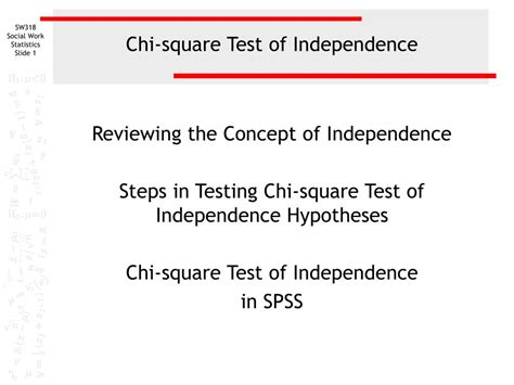 chi test ppt chi square test of independence powerpoint